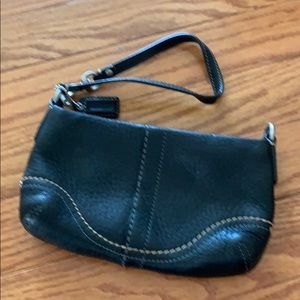 Coach wristlet leather